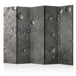 Paraván - Steel surface with water drops II