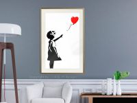 Plakát  - Banksy: Girl with Balloon I - Banksy: Girl with Balloon I